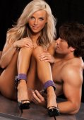 Поножи x-play love chain ankle cuffs purple 2071xp - Секс-шоп Мир Оргазма