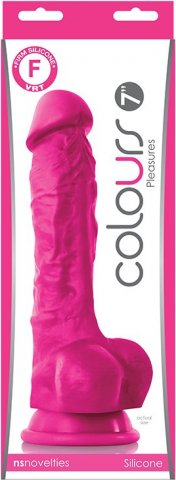 Colours pleasures 7'' dildo pink, фото 3