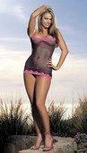 Фиолетовое платье с люрексом и розовым кружево - Секс шоп Мир Оргазма