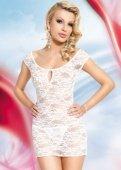 S/m бел сорочка `linley`, цветочное кружево на замочке-брошк - Секс шоп Мир Оргазма