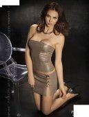 Комплект: нижняя юбка + топ + стринги, серый, твоя вторая кож - Секс шоп Мир Оргазма