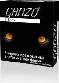 Презервативы Ganzo Black 3 Черные анатомические 3/2 - Секс шоп Мир Оргазма