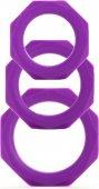 Набор эрекционных колец Octagon Rings 3 sizes фиолетовый (. - Секс шоп Мир Оргазма