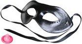 Маска на глаза со стразами Diamond Mask черная - Секс шоп Мир Оргазма