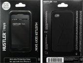 Черный силиконовый чехол hustler для iphone 4,4 - Секс шоп Мир Оргазма