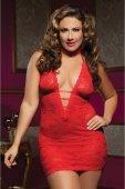 Ажурное платье красное с глубоким декольте X - Секс шоп Мир Оргазма