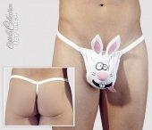 Стринги мужские Кролик белые-S/ - Секс шоп Мир Оргазма