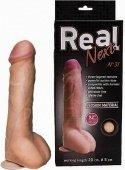Фаллоимитатор на присоске 9 real next 23 см, длина до мошонки 18 см, диаметр 4 см - Секс шоп Мир Оргазма