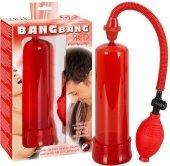 Помпа мужская вакуумная красного цвета - Секс шоп Мир Оргазма
