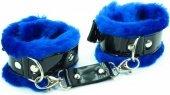 Синие наручники с мехом bdsm light - Всероссийский ОнЛайн секс шоп - Секс Заказ .Ру. Интернет магазин Секс товаров. Только у нас отличный выбор товаров для секса по самым низким ценам и быстрой доставкой по России!</