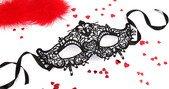 Чёрная ажурная маска на завязочках - Всероссийский ОнЛайн секс шоп - Секс Заказ .Ру. Интернет магазин Секс товаров. Только у нас отличный выбор товаров для секса по самым низким ценам и быстрой доставкой по России!</