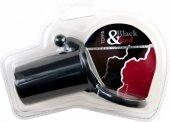 Насадка силиконовая, черная, диаметр 3 см, длина 7 см, внутренний диаметр кольца для мошонки 4 см - Секс шоп Мир Оргазма