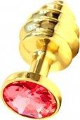 Анальная пробка с красным кристаллом, золотая - Всероссийский ОнЛайн секс шоп - Секс Заказ .Ру. Интернет магазин Секс товаров. Только у нас отличный выбор товаров для секса по самым низким ценам и быстрой доставкой по России!</