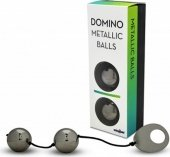 Вагинальные шарики металлические, хромированные черные - Секс шоп Мир Оргазма