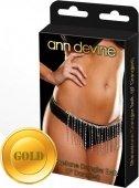 Юбочка из кристаллов dangler belt золота - Секс шоп Мир Оргазма