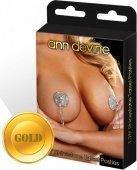 Яркие блестящие пэстисы с кисточками золоты - Секс шоп Мир Оргазма