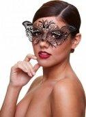 Черная маскарадная маска со стразами Masq Madame - Секс шоп Мир Оргазма