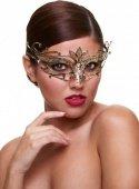 Золотая карнавальная маска со стразами Masq Private Affair - Секс шоп Мир Оргазма