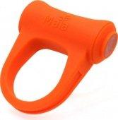 Виброкольцо Adam, с подзарядкой, силикон, оранжевое, длина общая 5 см, внутренний диаметр кольца 3 см (тянется) - Секс шоп Мир Оргазма