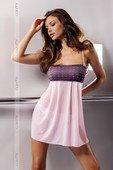 Светло-розовая сорочка Muna Chemise 3XL - Секс шоп Мир Оргазма