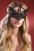 Чёрная ажурная маска Mask Black Model 9 - Секс шоп Мир Оргазма