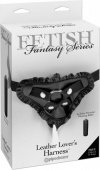Страпон-трусики Fetish Fantasy Series Leather Lovers Harness женские с рюшами для крепления фаллоим - Секс шоп Мир Оргазма