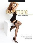 Чулки Microrete в мелкую сеточку с простой резинкой на силиконовой ленте черные - Секс шоп Мир Оргазма