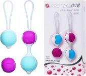Вагинальные шарики 2 шарика по 30 г, 2 шарика по 40 г, диаметр 3 см - Секс шоп Мир Оргазма