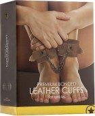 Кожаные поножи ouch! brown sh-ou180brn - Секс шоп Мир Оргазма