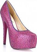 Туфли в кристаллах на шпильке sexy pink 5 - Секс шоп Мир Оргазма
