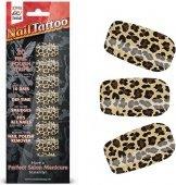 Набор лаковых полосок для ногтей леопард nail foi - Секс шоп Мир Оргазма