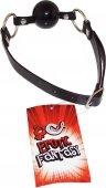 Силиконовый черный кляп-шарик на ремне black ballga - Секс шоп Мир Оргазма