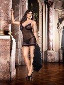 Мини-платье на бретелька - Секс шоп Мир Оргазма