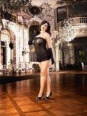 Мини-платье с кружевом D-size - Секс шоп Мир Оргазма
