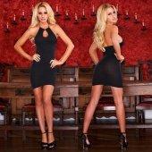 Черное платьице с вырезом капелько - Секс шоп Мир Оргазма