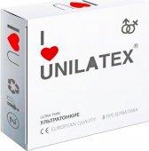 Презервативы Unilatex Natural Ultrathin ультротонкие -ШТ - Секс шоп Мир Оргазма