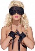 Eye mask & amp cuffs os blac - Секс шоп Мир Оргазма