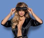 Черная атласная маска с кружевом на завязках Satinia Mask - Всероссийский ОнЛайн секс шоп - Секс Заказ .Ру. Интернет магазин Секс товаров. Только у нас отличный выбор товаров для секса по самым низким ценам и быстрой доставкой по России!</