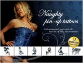 Набор Тату Naughty Pin-Up,, цвет Черны - Секс шоп Мир Оргазма