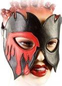 Р39 Очки-маска чёрно-красная, размер универсальный - Секс шоп Мир Оргазма