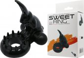 Эрекционное виброкольцо Baile Sweet Vibrating Ring кролик - Секс шоп Мир Оргазма