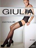 Белые чулки emotion с кружевом на силиконовой ленте 3/4 (20 den) - Секс шоп Мир Оргазма