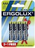 Набор из 4-х батареек ergolux alkaline (тип aaa - Секс шоп Мир Оргазма
