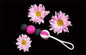 Магнитные вагинальные шарики разного веса Geisha Balls Magnetic (4 шарика), диаметр черного шарика 1 см, диаметр шарика 2 см - Секс шоп Мир Оргазма