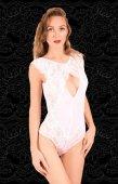 Боди белого цвета 2661-46-4 - Секс шоп Мир Оргазма