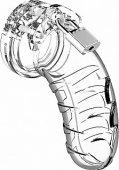 Мужской пояс верности 4 Transparent 4.5 Inch SH-MCG004TR - Секс шоп Мир Оргазма