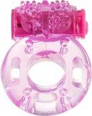 Виброкольцо toyfa, гелевое, розовое - Секс шоп Мир Оргазма