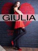 Колготки с имитацией чулок с красным сердечком Enjoy Love модель M (60 den) - Секс шоп Мир Оргазма