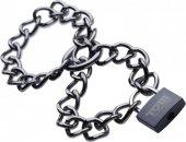 Металлические цепи-оковы с замком Tom of Finland Locking Chain Cuffs - Секс шоп Мир Оргазма