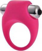 Эрекционное кольцо силиконовое с вибрацией Onjoy Silicone Collection (розовый) - Секс шоп Мир Оргазма